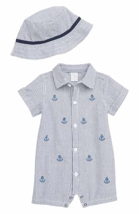 ac48e190fef Little Me Anchors Romper   Hat Set (Baby)