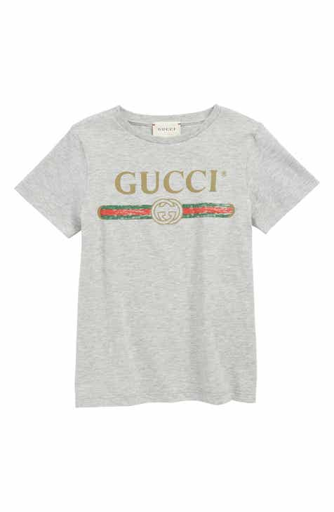 5488d5f612ae Gucci Logo T-Shirt (Little Boys   Big Boys)