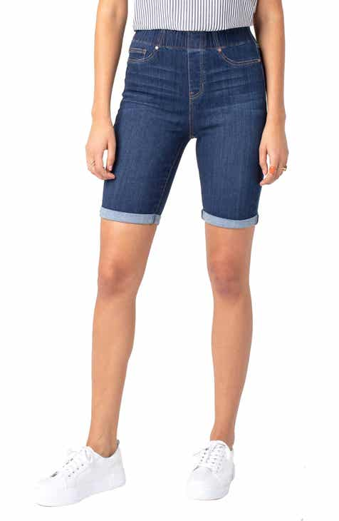 Good American High Waist Bermuda Shorts (Blue 179) (Regular & Plus Size) by GOOD AMERICAN