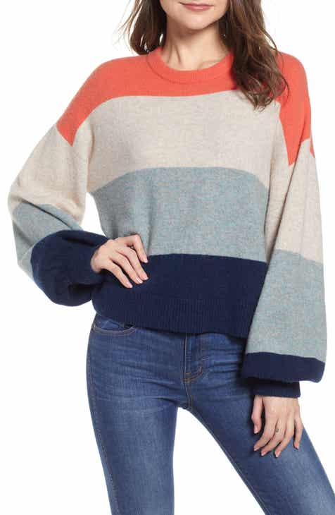 Madewell Striped Balloon-Sleeve Pullover Sweater e943ff58b