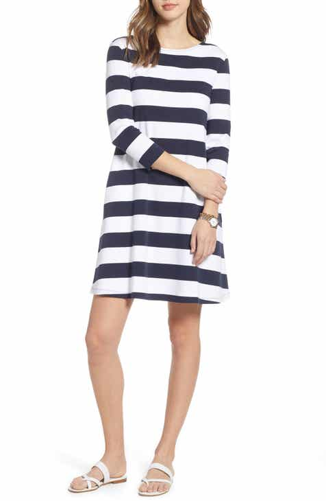 24b6060374 1901 Tie Back Stripe Knit Dress