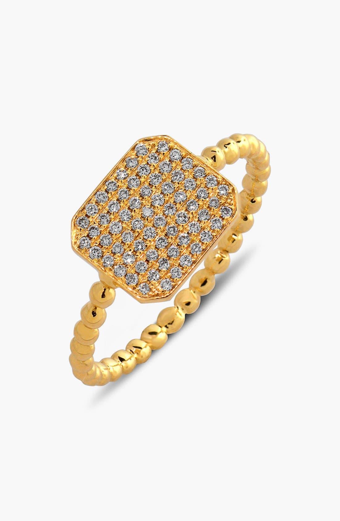 BONY LEVY Aurora Diamond Pavé Rectangle Ring