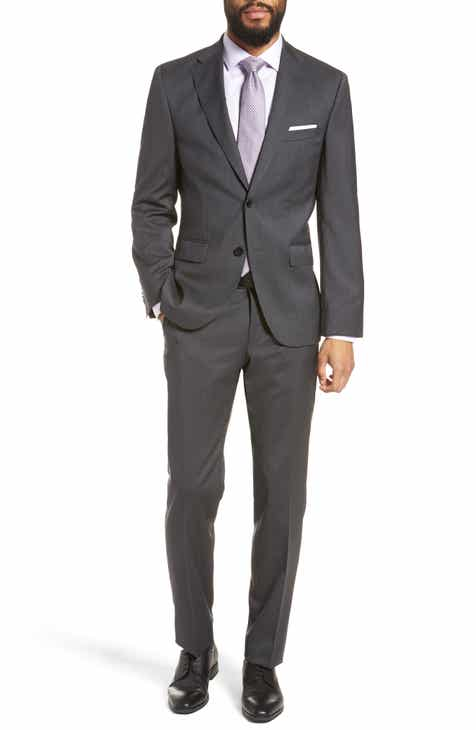 30c9787806a22 BOSS Johnstons/Lenon Classic Fit Solid Wool Suit