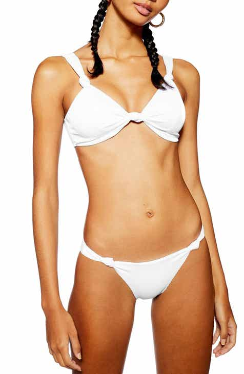 83c0e758a2ac2 Topshop Ribbed Side Knot Bikini Bottoms