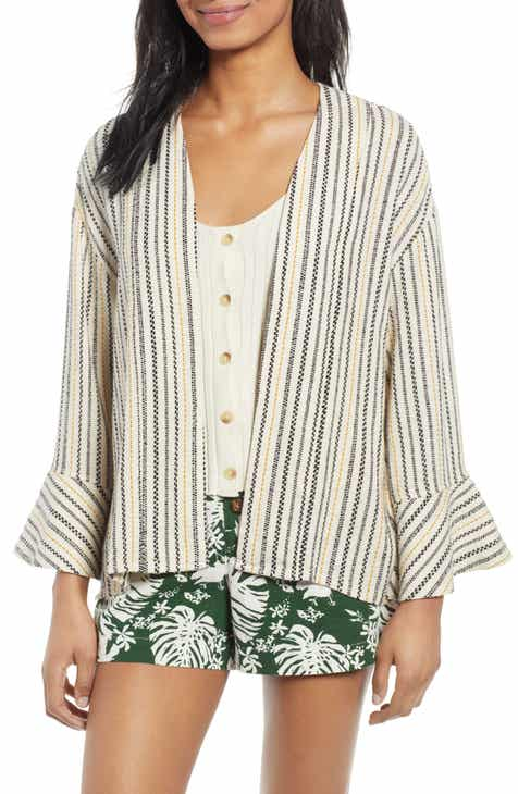 BP. Stripe Jacquard Linen Blend Jacket (Regular & Plus Size) by BP