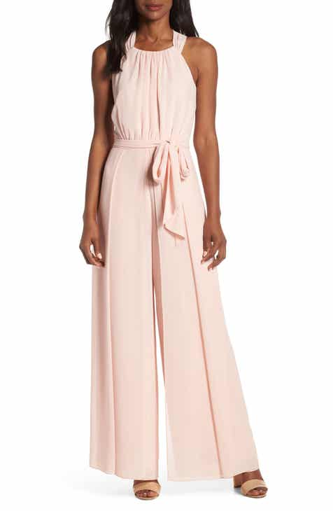 Julia Jordan Hunter Crepe Ruffle Shoulder Jumpsuit by JULIA JORDAN