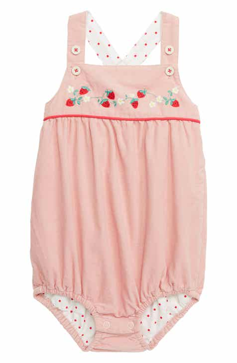 9034840a86f Mini Boden Floral Embroidered Romper (Baby)
