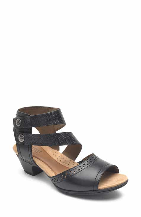 9a97972d06d Rockport Cobb Hill Abbott Double Cuff Perforated Sandal (Women).  109.95.  Product Image. BLACK LEATHER