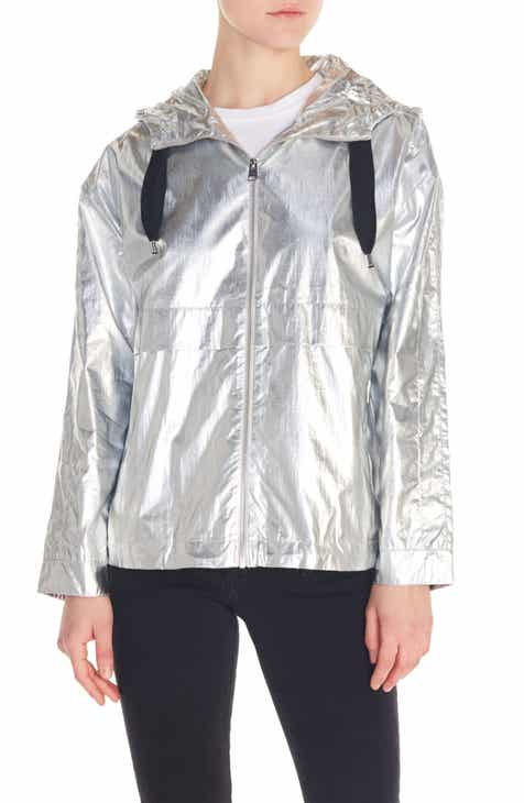 maje Boomer Waterproof Metallic Jacket by MAJE