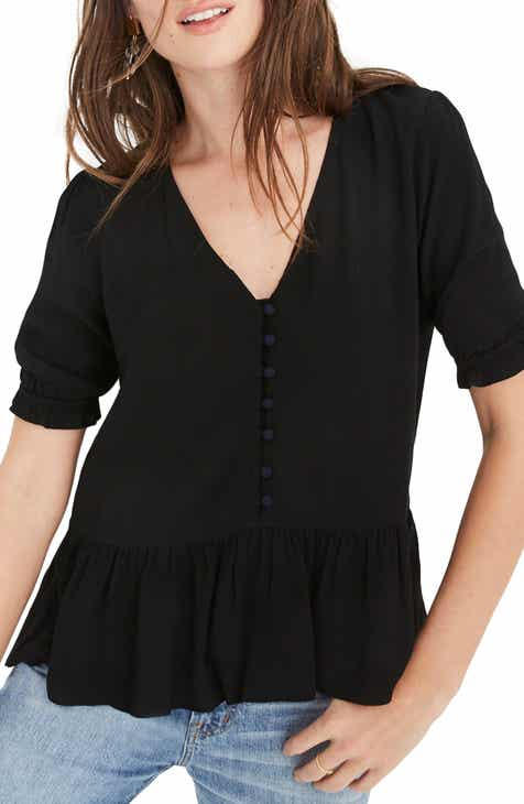 95520dbb9687bb Madewell Courtyard Ruffle Hem Top (Regular   Plus Size)