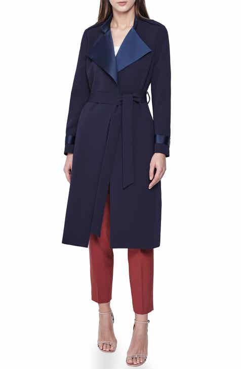Reiss Katja Satin Detail Belted Coat by REISS