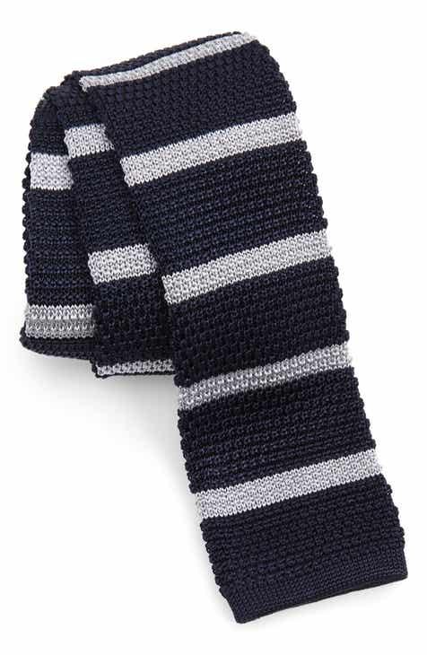 ba1ef83a3e0 BOSS Stripe Knit Silk Tie
