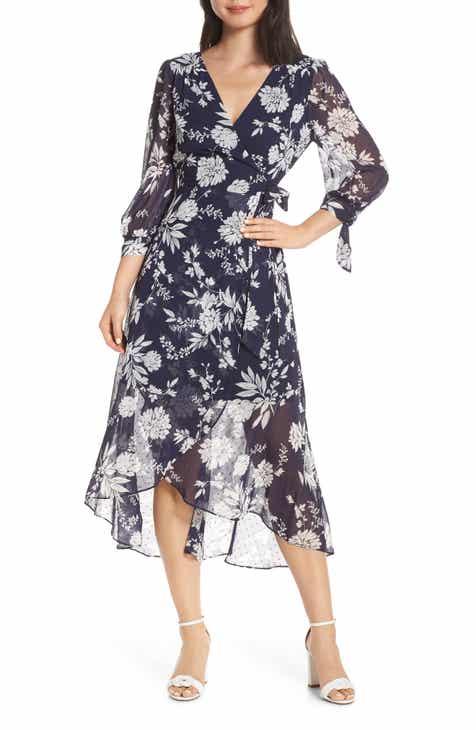 6c5a8fdb618d Eliza J Floral Print Faux Wrap Dress