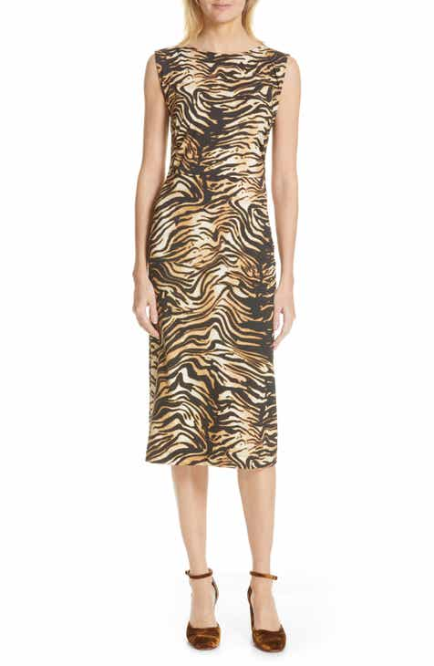 Rachel Comey Medina Tiger Print Sheath Dress