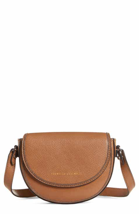 1ecc759edd4 Brunello Cucinelli Monili Trim Leather Belt   Shoulder Bag