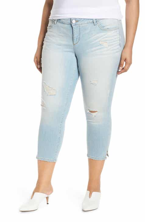 KUT from the Kloth Brigitte Embellished Skinny Ankle Jeans (Bewitching) (Plus Size) by KUT FROM THE KLOTH
