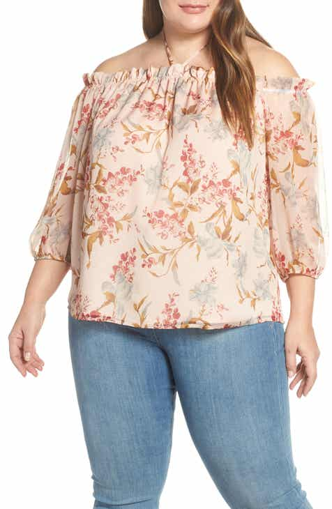 6cf1402c24354 Vince Camuto Wildflower Off the Shoulder Top (Plus Size)