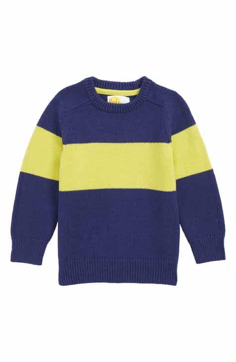 5b16b48637 Mini Boden Colorblock Crew Sweater (Toddler Boys