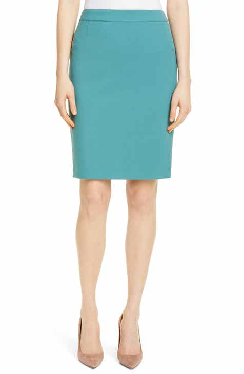 ac3394036d366 BOSS Vaina Soft Stretch Pencil Skirt