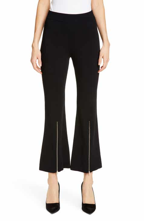 Stella McCartney Zip Detail Crop Flare Pants by STELLA MCCARTNEY