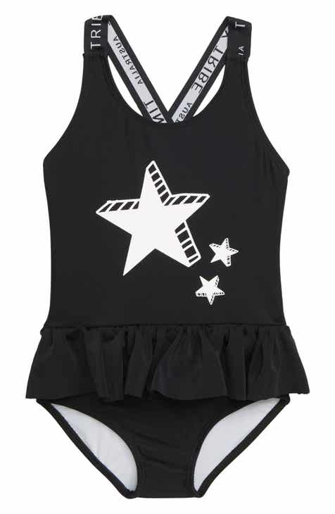 c1390f4123806 TINY TRIBE Star Skirted One-Piece Swimsuit (Toddler Girls   Little Girls)