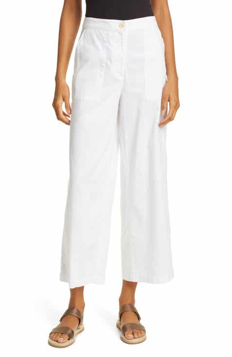 Topshop Tuck Hem Wide Leg Trousers by TOPSHOP
