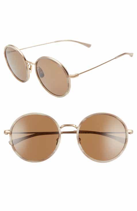 86e2112729 SALT Audrey 56mm Polarized Round Sunglasses