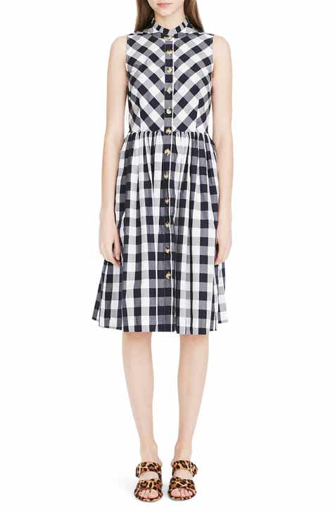 97be7e4eee6400 J.Crew Gingham Button Down Dress