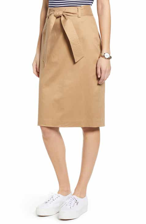 4b8e2d8b4fa 1901 Twill Pencil Skirt (Regular   Petite)