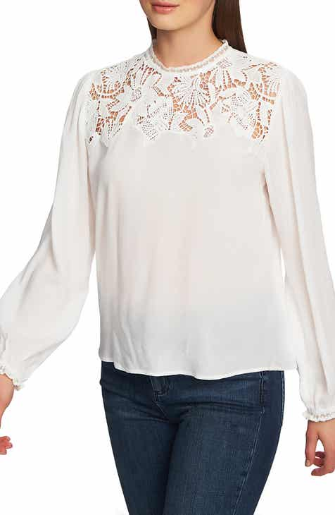 afd8ddeb7cd011 STATE Lace Yoke Blouse