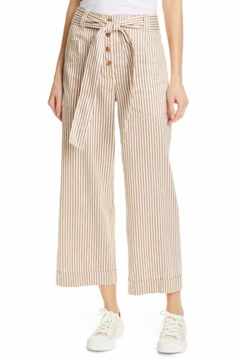 Tory Burch Stripe Crop Pants by TORY BURCH