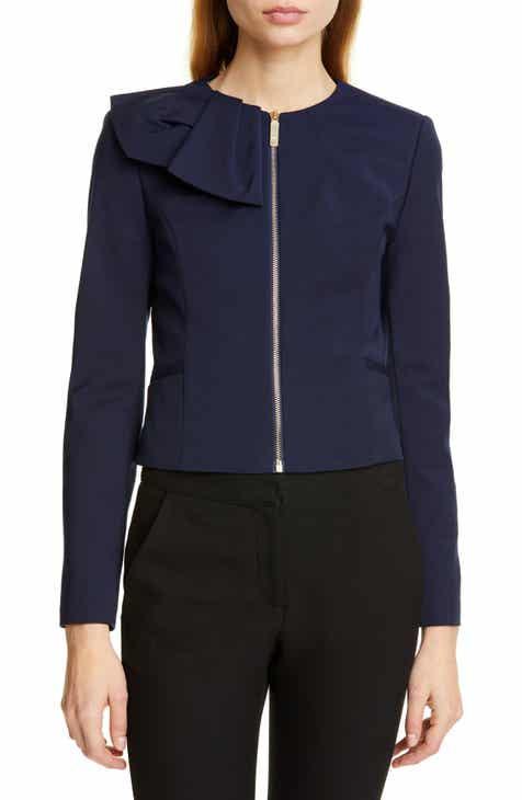 Ted Baker London Zamelii Cropped Jacket with Bow Detail by TED BAKER LONDON