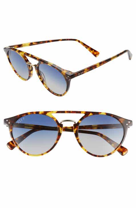 ab8ff5d5c4b8 DIFF 50mm Mason Polarized Round Sunglasses