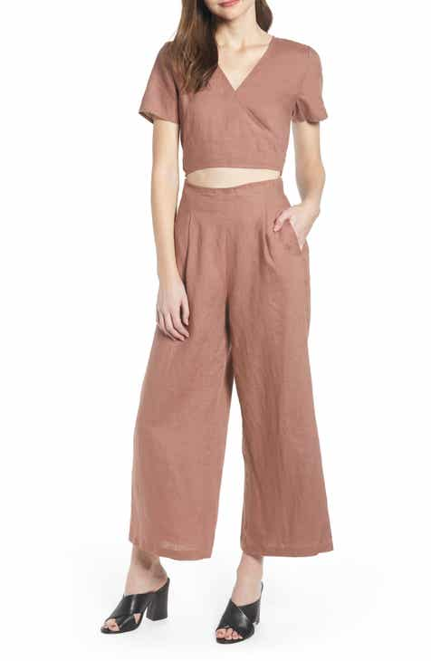 Chelsea28 Linen Jumpsuit By CHELSEA28 by CHELSEA28 Herry Up