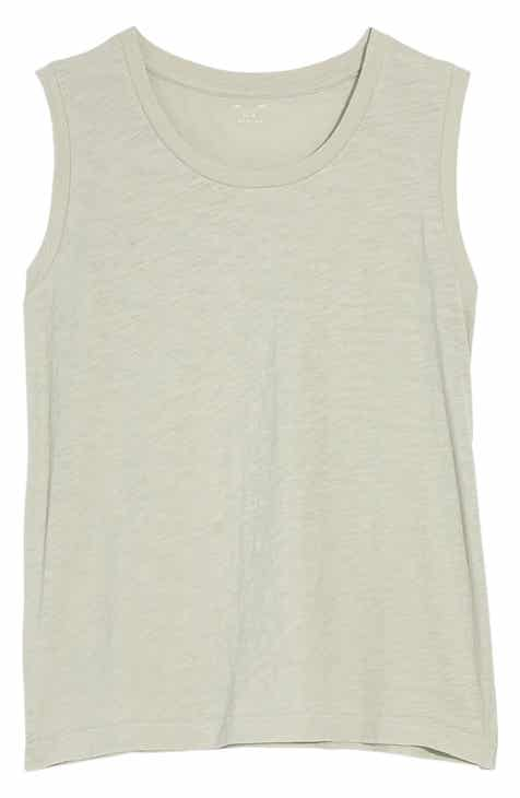 6594ca4115090 Madewell Whisper Cotton Crewneck Muscle Tank