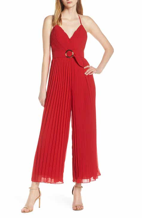 Fame and Partners O-Ring Pleated Jumpsuit by FAME AND PARTNERS