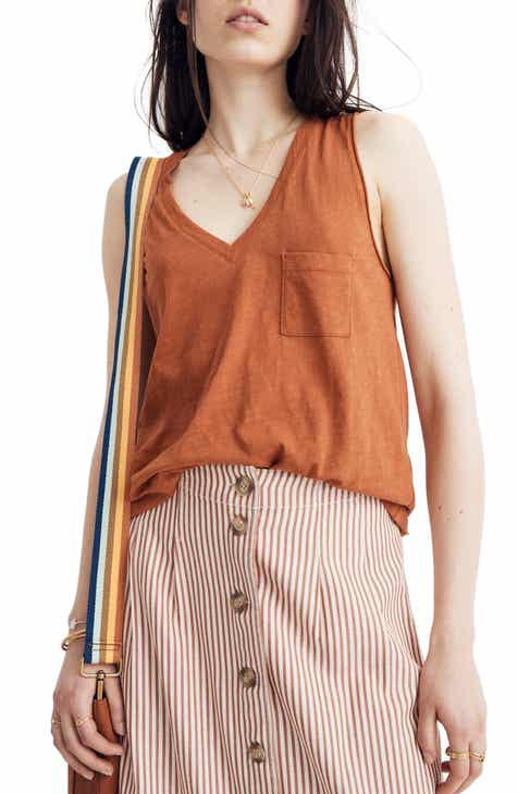 71067da1d80dd Madewell Whisper Cotton V-Neck Tank