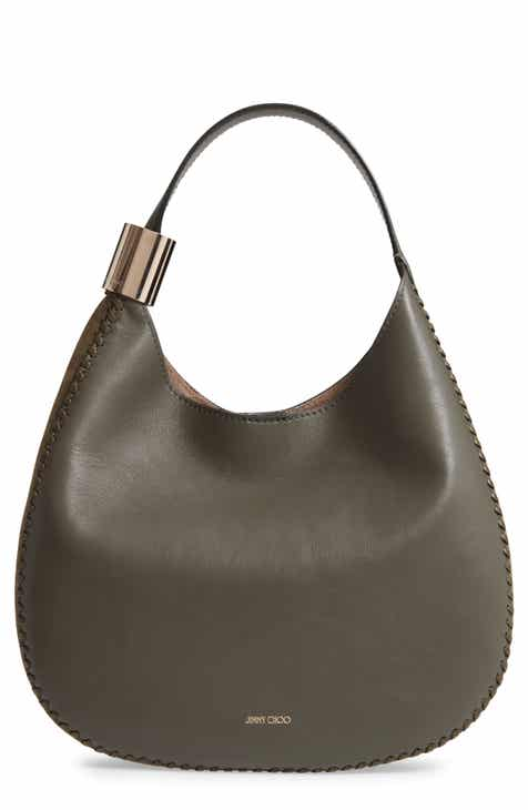540aeea995 Jimmy Choo Stevie Lambskin Leather   Suede Hobo