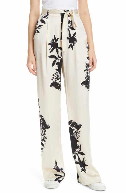 Equipment Evonne Tie Waist Silk Blend Pants by EQUIPMENT