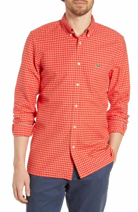 a7d61a422081e Lacoste Slim Fit Gingham Sport Shirt