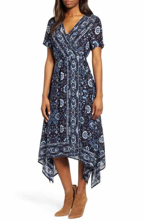 09ffd48ff Lucky Brand Ashley Print Wrap Dress