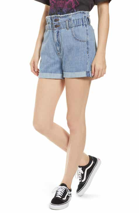 STS Blue Paperbag Waist Denim Shorts (Bravestone) by STS BLUE