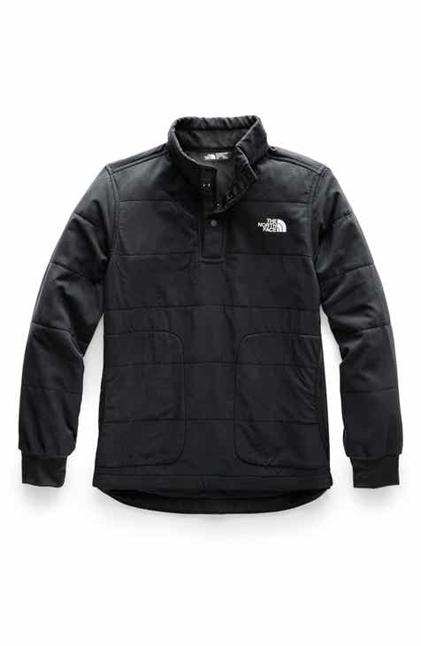 1a2c8ec915c9 The North Face Mountain Quilted Quarter Snap Sweatshirt (Big Boys)