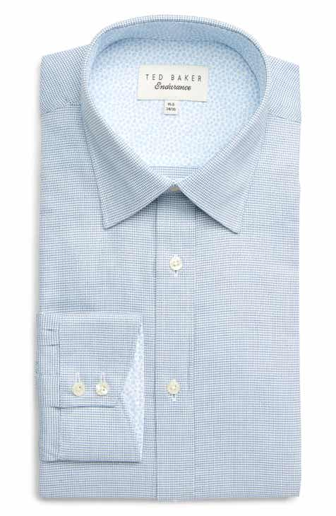 f7e33e902baffd Ted Baker London Guppi Trim Fit Check Dress Shirt