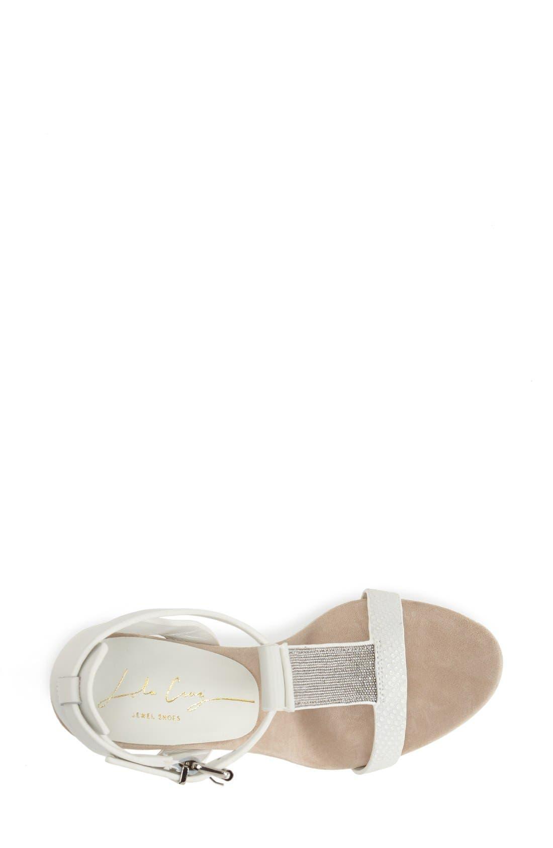 Alternate Image 3  - Lola Cruz Chain T-Strap Wedge Sandal (Women)