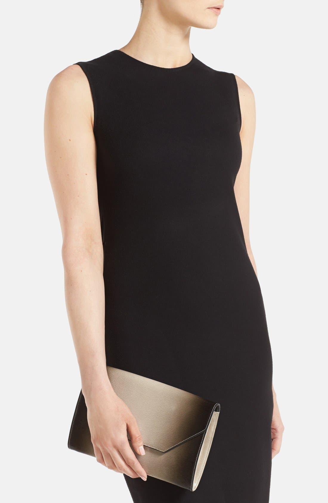 Alternate Image 2  - Halogen® Ombré Leather Envelope Clutch