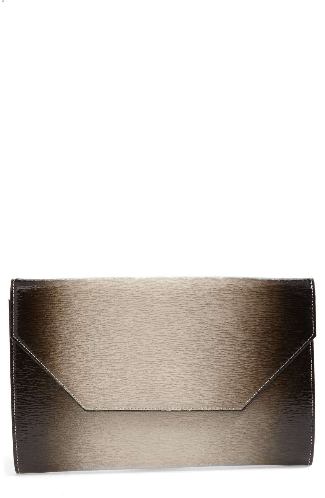 Alternate Image 1 Selected - Halogen® Ombré Leather Envelope Clutch
