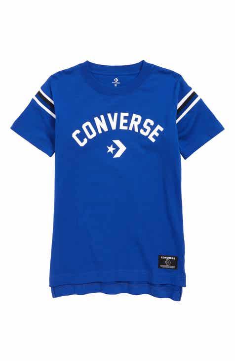 396e5c6856a1 Converse Split Hem T-Shirt (Big Boys)