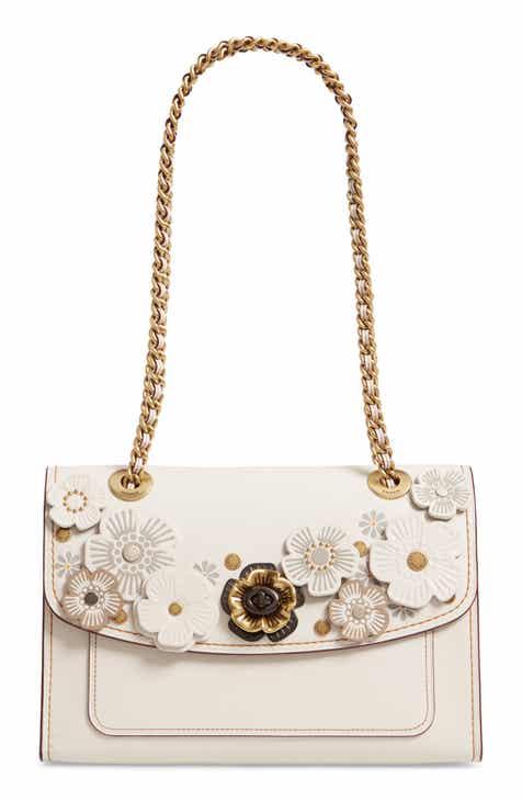 b00e46a4ba4f COACH Parker Tea Rose Leather Shoulder Bag