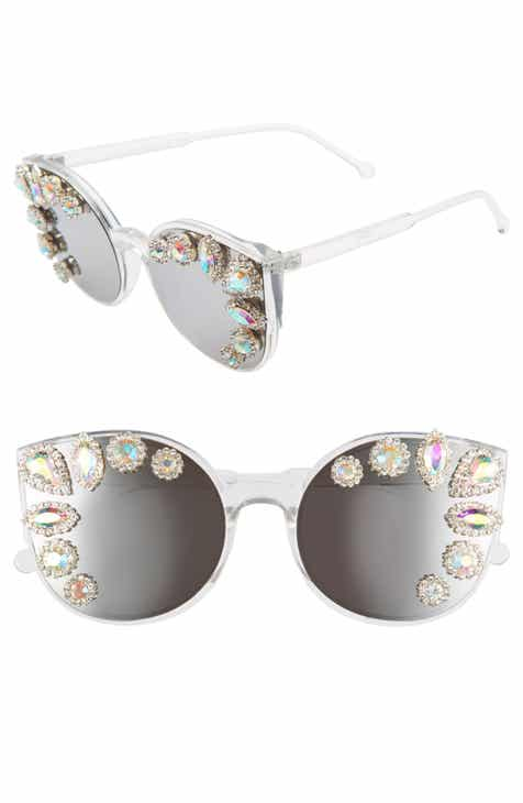 942a974d4 Rad + Refined Crystal Embellished Cat Eye Sunglasses